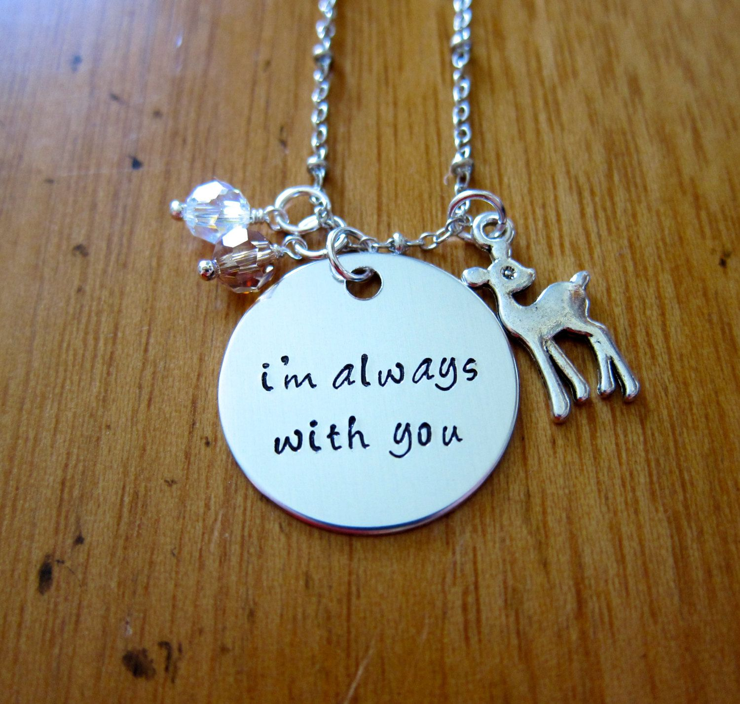 Baby deer fawn necklace im always with you deer jewelry father baby deer fawn necklace im always with you deer jewelry father daughter necklace mother daughter necklace crystals love mozeypictures Choice Image