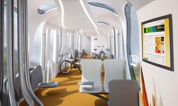 Futuristic Train Interior futuristic train inter...