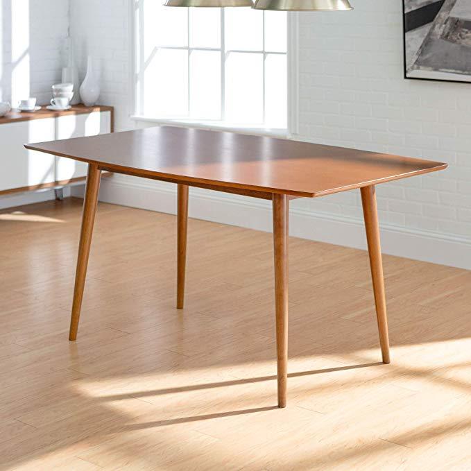 Amazon Com We Furniture 60 Mid Century Wood Dining Table