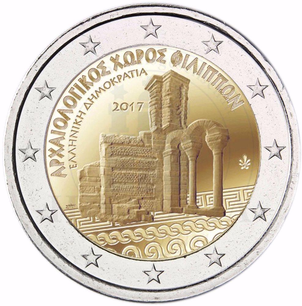 Details Zu Griechenland 2 Euro 2017 Archäologische Anlagen Philippi