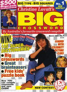 The first monthly edition of our ever-popular BIG Crossword magazine - March 1993.