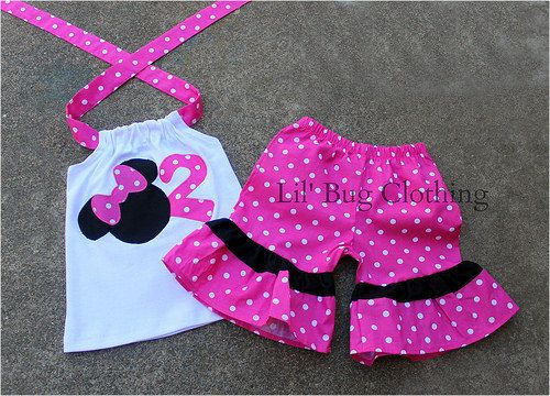 Custom Boutique Pink Minnie Mouse Personalized by LilBugsClothing