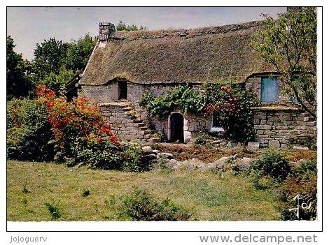 Maison vernaculaire bretonne couverte en chaume Celtic houses