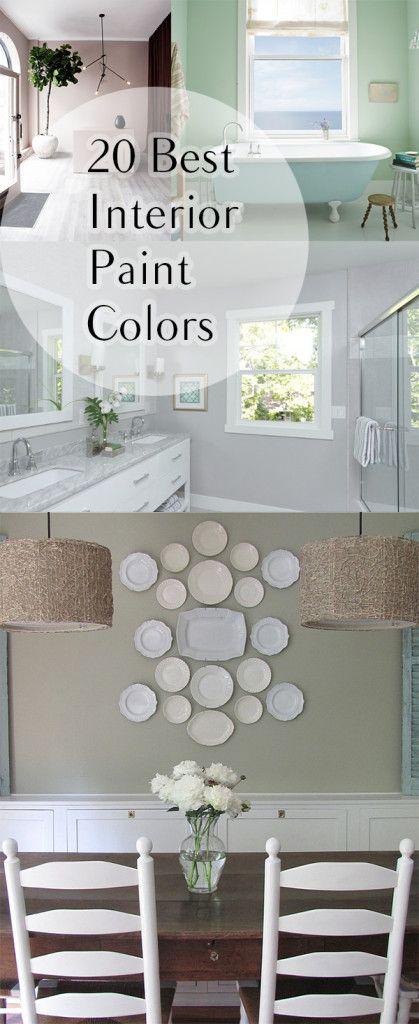 20 best interior paint colors colores de pintura pared for Pintura para pared interior colores