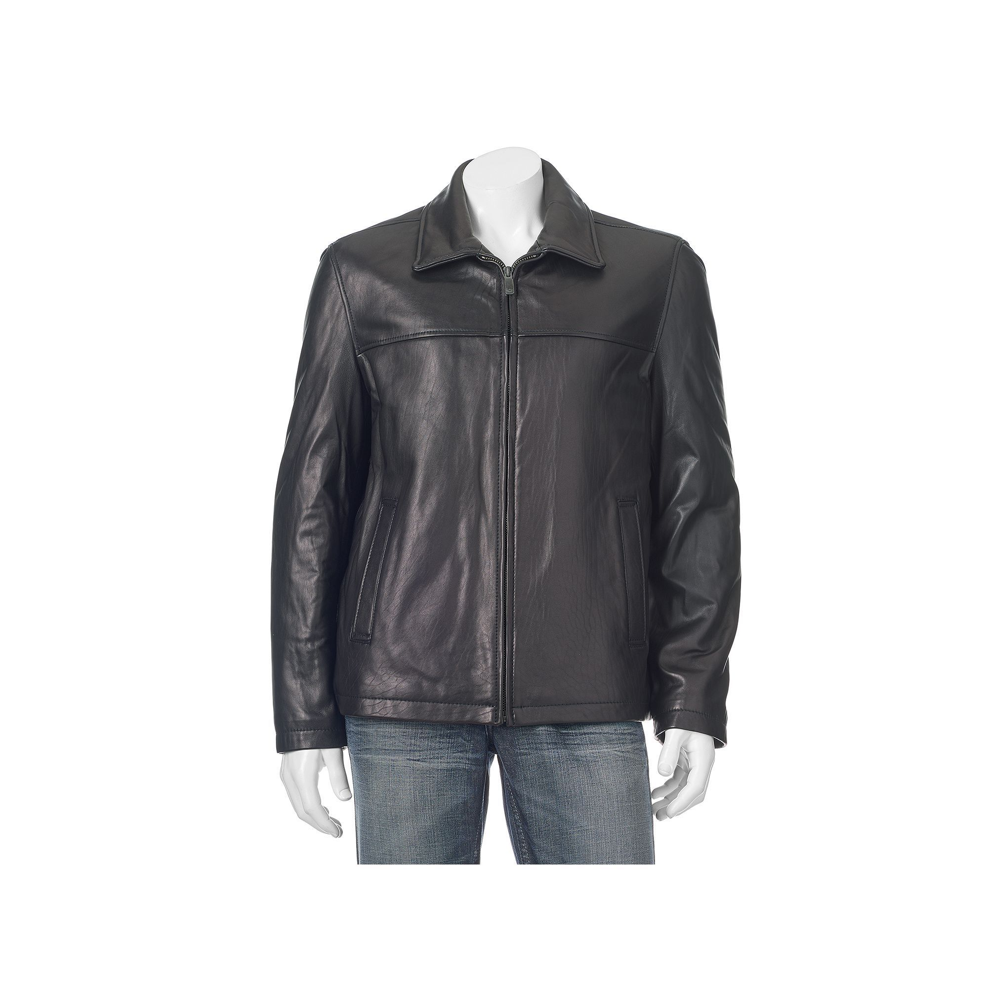 Men's Dockers Leather Shell OpenBottom Jacket Jackets