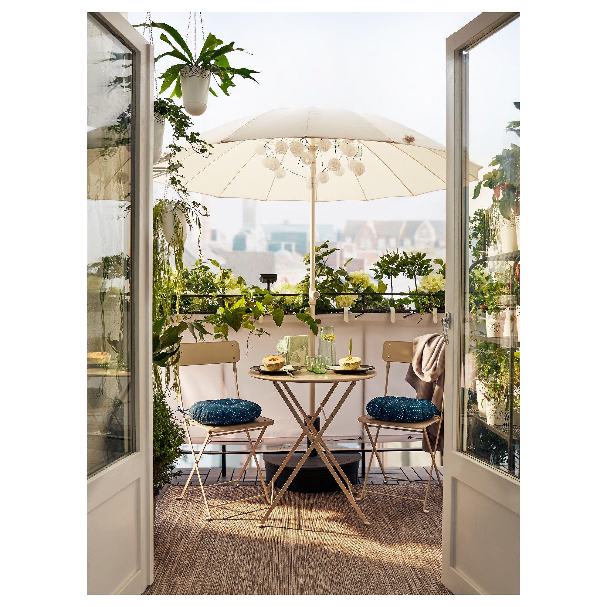 IKEA - SALTHOLMEN Table, outdoor foldable beige | Outdoor ...