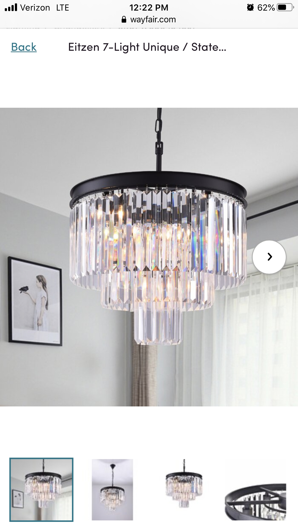 Eitzen 9 - Light Unique Tiered Chandelier in 9  Chandelier