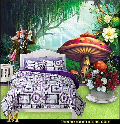 Alice In Wonderland Bedroom Ideas   Decorating Ideas For Alice In Wonderland  Themed Room   Alice Wonderland Tea Party Ideas   Alice In Wonderland Themed  ...