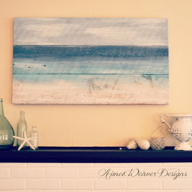 My Pink Life Seaside Inspired Paintings Using Salvaged