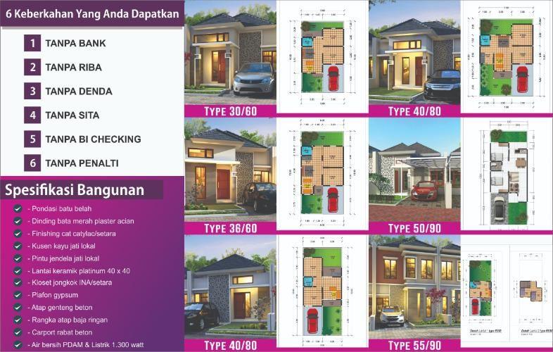 Rumah Idaman Tipe 50 90 Rumah Tempat Ibadah Dinding Bata