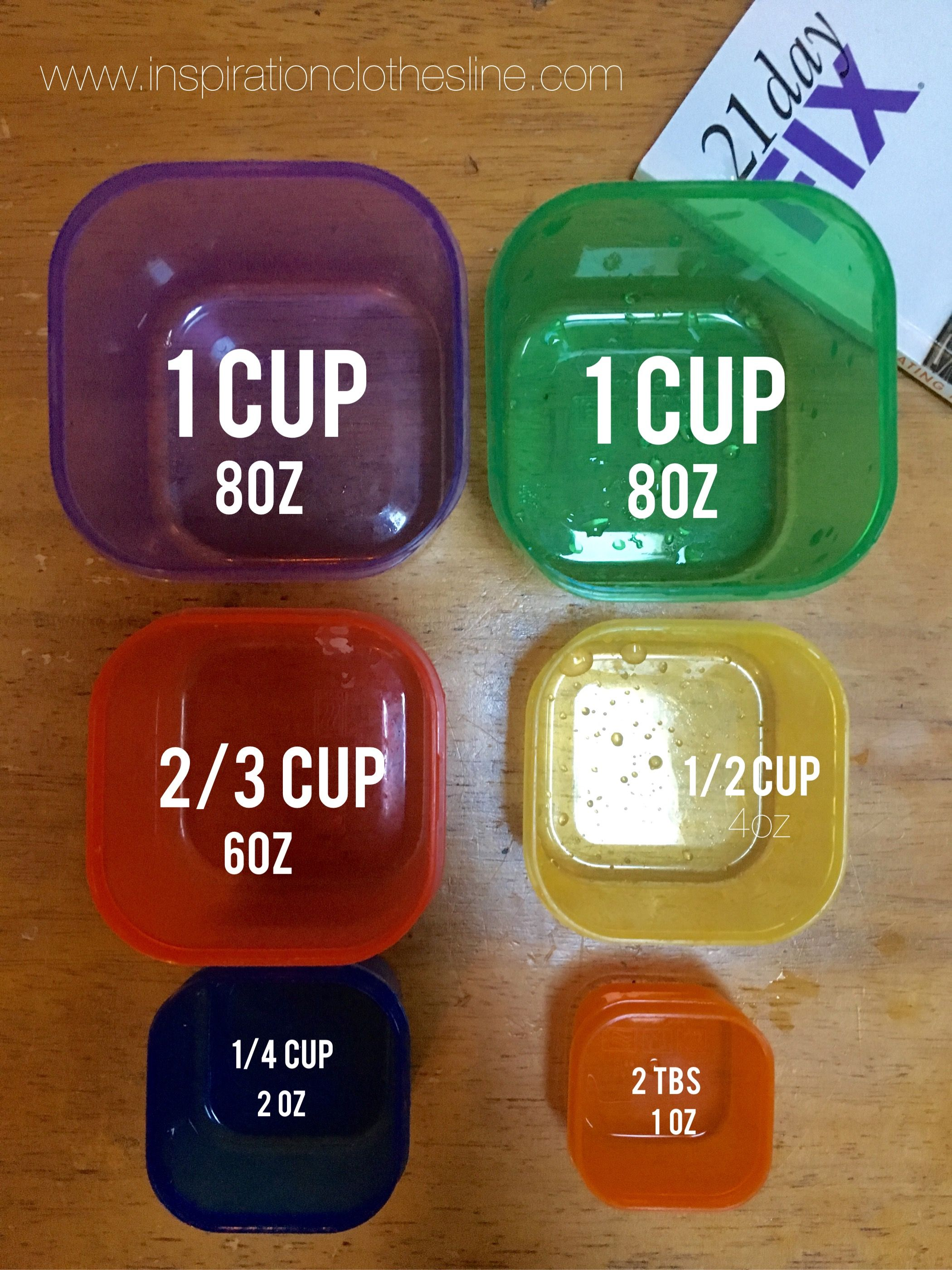 21 Day Fix Container measurements: basic but necessary info!