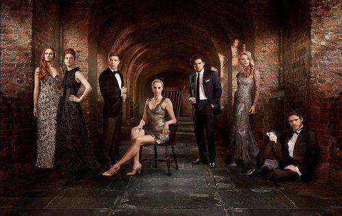 Sophie Turner, Rose Leslie, Joe Dempsie, Gwendoline Christie, Kit Harington, Natalie Dormer & Richard Madden - Cast of Game of Thrones, Radio Times, April 2013
