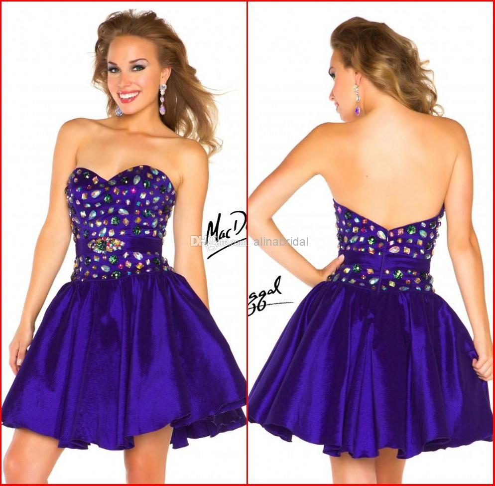 Wholesale Homecoming Dresses - Buy New Mac Duggal 2014 Homecoming ...