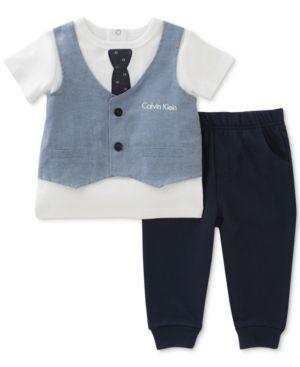 c66d55011e99 Calvin Klein 2-Pc. Faux-Vest T-Shirt   Jogger Pants Set