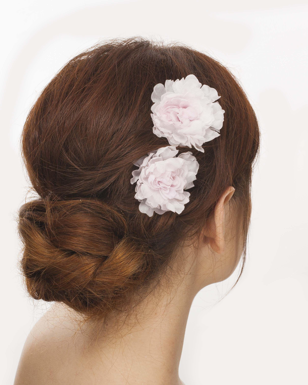 A Pair Of Bridal Hair Pins Silk Flowers Bridal Hair And Corsage
