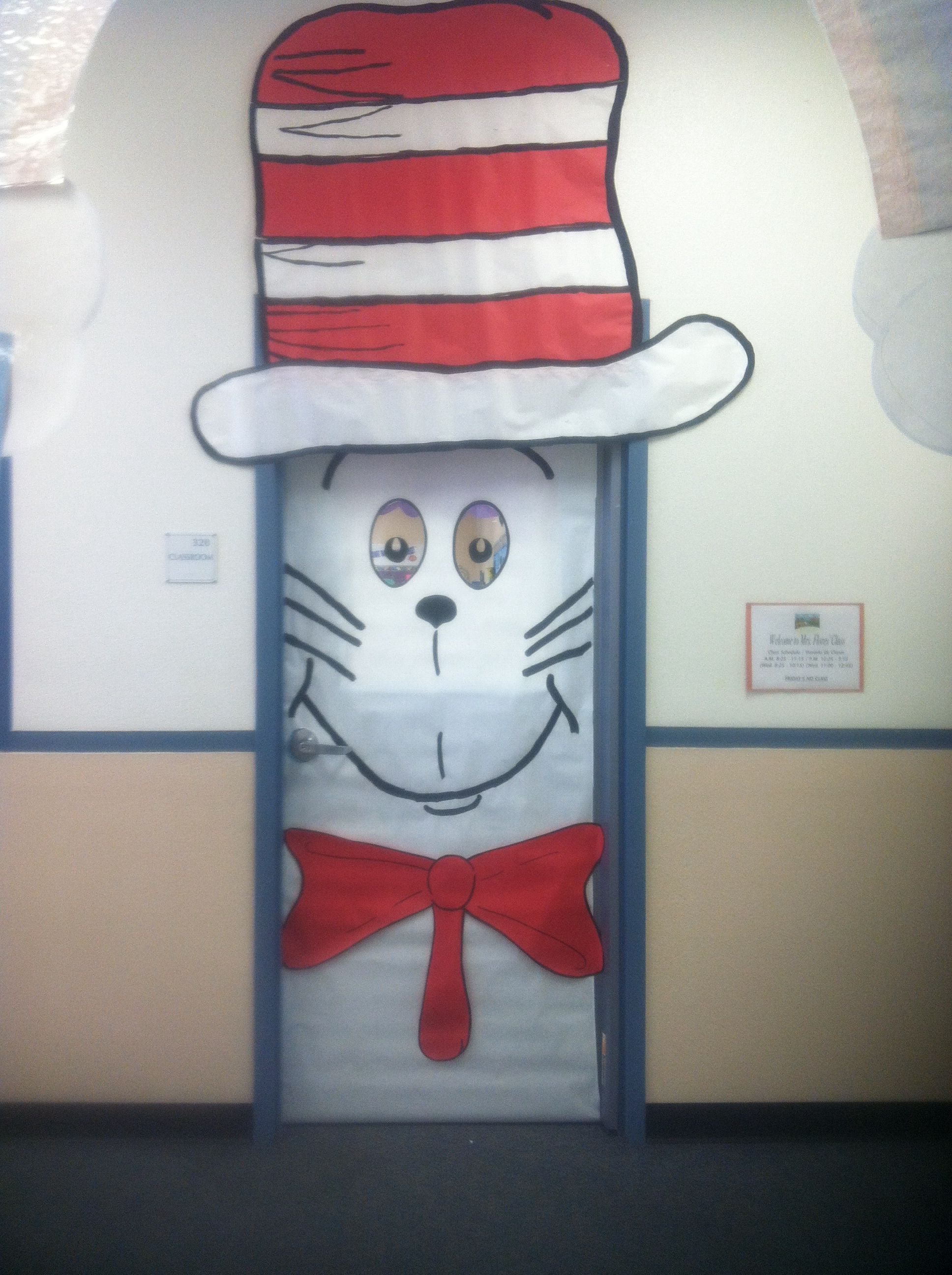 The Cat In The Hat Classroom Door Classroom Doors