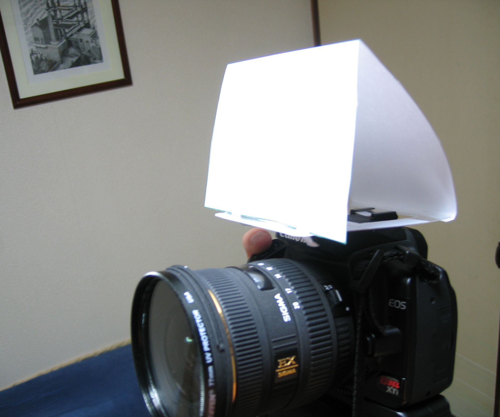 DIY Digital SLR Built Inflash Diffuser Photography