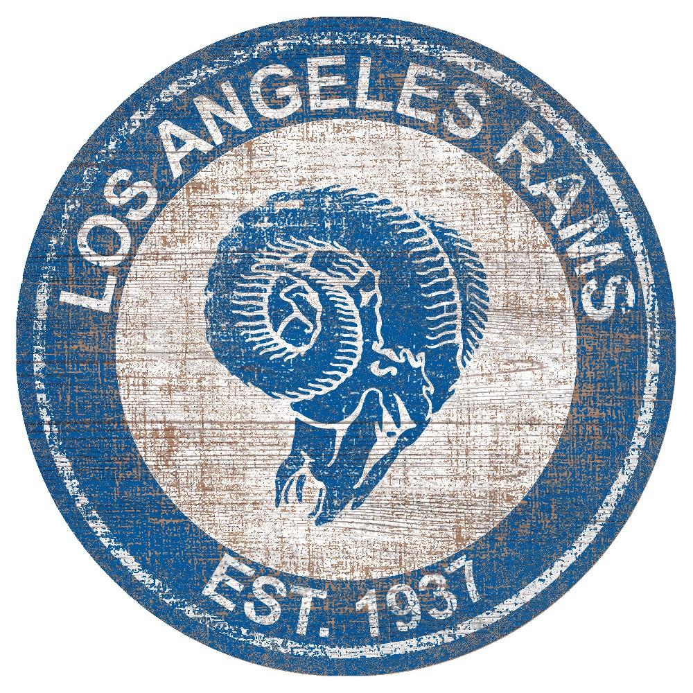 Nfl Los Angeles Rams Heritage Logo 24 Round Sign Wall Art Art Wall Art Sets