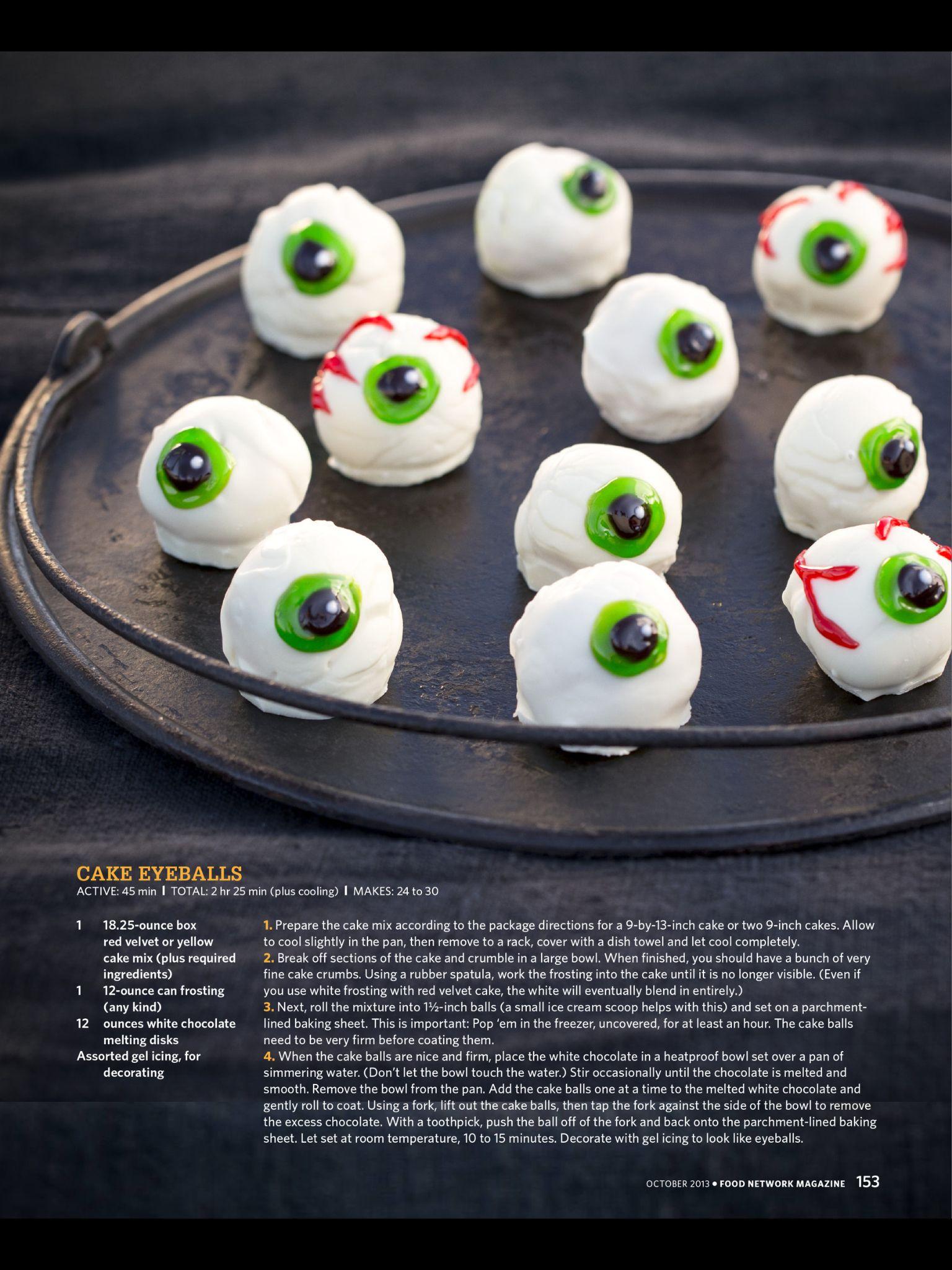 Cake Eyeballs The Pioneer Woman Halloween Treats Halloween