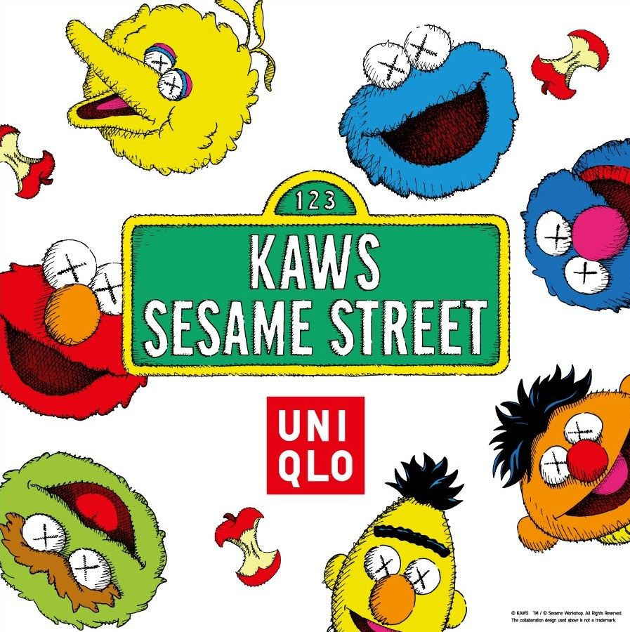 52b45a2bfa5 Sesame Workshop has teamed up with contemporary artist Kaws for a new  apparel collection with Uniqlo.
