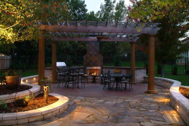 landscape design pictures backyard kitchen spa pergola and flagstone patio all - Flagstone Patio Designs