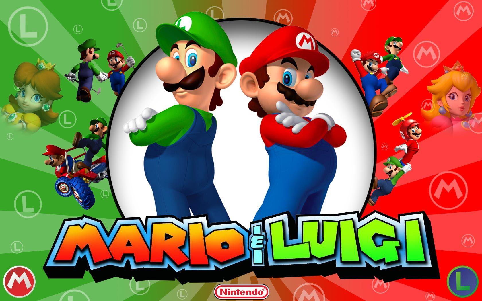 Mario And Luigi Canecas Personalizadas Mario Brothers