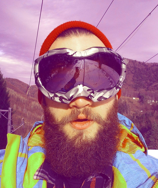 bcb17535c4f Romtcho Pitcho - full thick dark beard beards bearded man men snow goggles  snowy winter ski