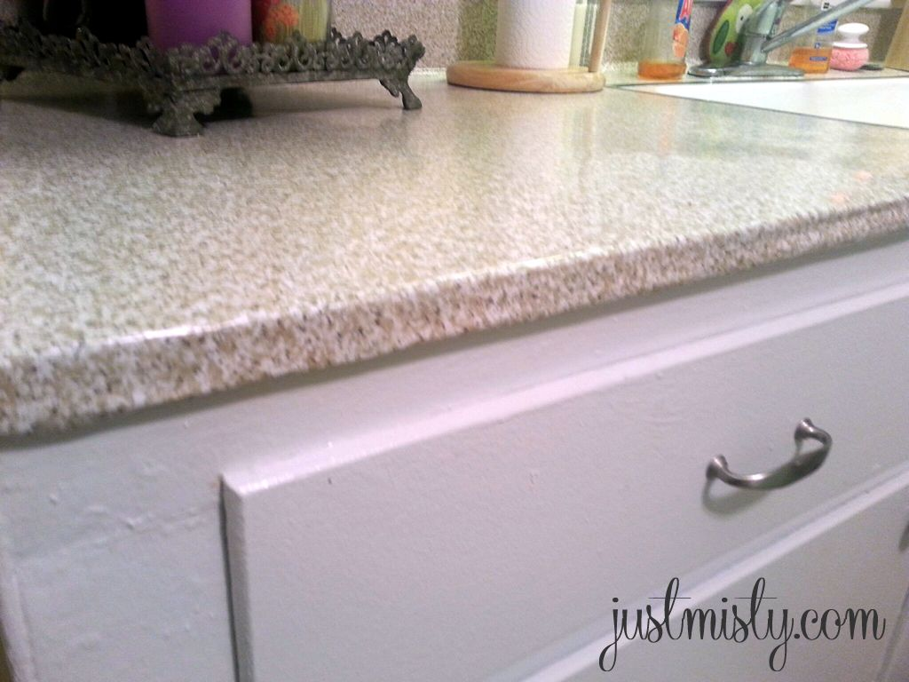 Using Contact Paper To Cover And Redo Countertops Diy