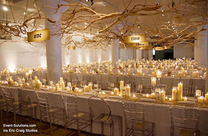 Creative Table Numbers Event Solutions Candle Wedding Centerpieces Non Floral Centerpieces Wedding Centerpieces