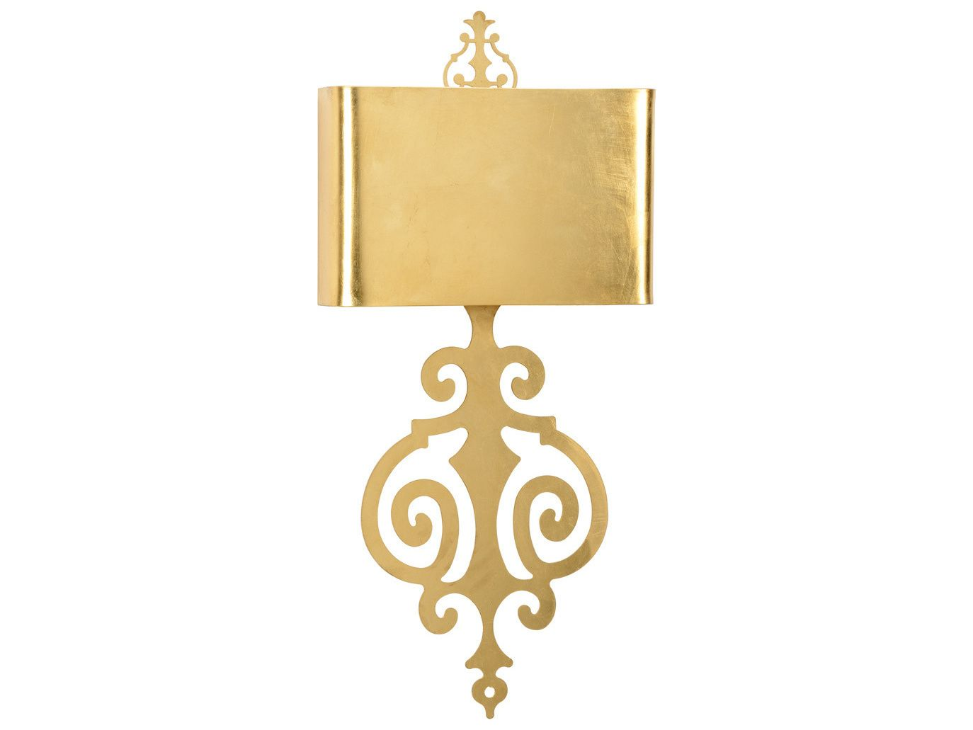 Wildwood Lucia Gold Antique Gold Leaf TwoLight Wall Sconce