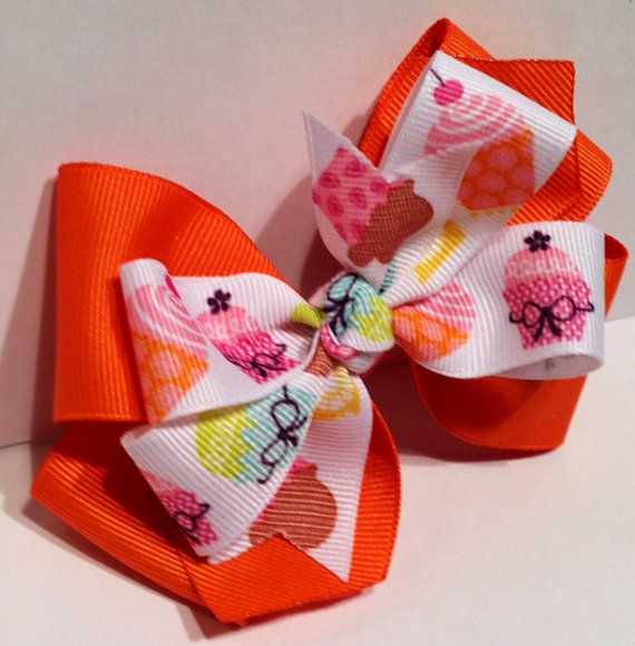 Stacked Pinwheel Bow by VintgeRoseCreations on Etsy, $3.00