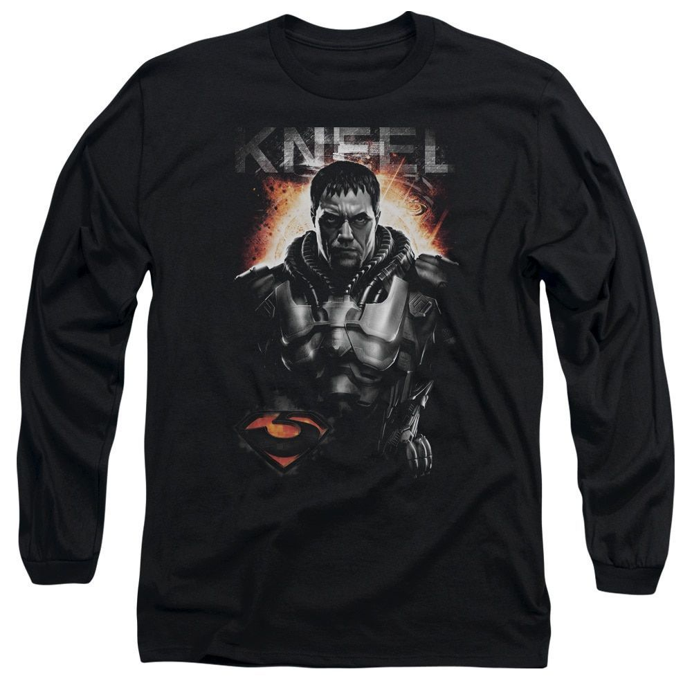 Man Of Steel/Kneel Long Sleeve Adult T-Shirt 18/1 in