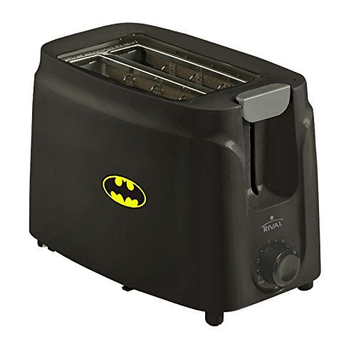 New 2 Slice Toaster in a Black Finish featuring batman Lo s