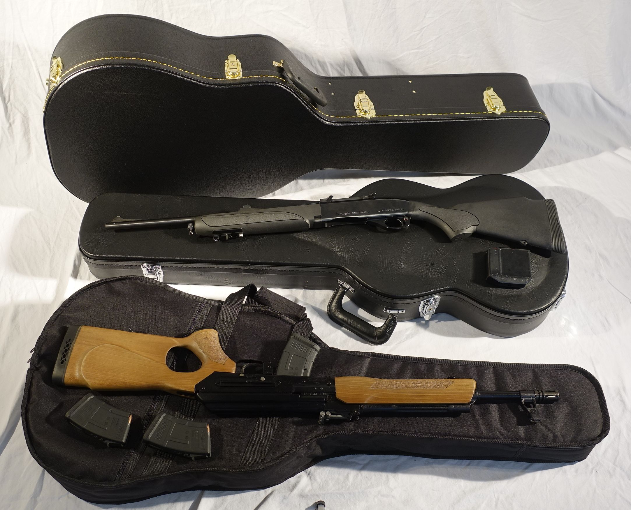 a9f0aed919 Covert Gun Cases, Privacy & Protection - Rifle cases in a covert guitar case.  Better than a Pelican gun case! Soft or hard cases for Shotgun and Pistol.