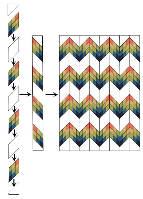 Sunnyside Diamond Zig Zag Quilt With Images Patchwork Quilt
