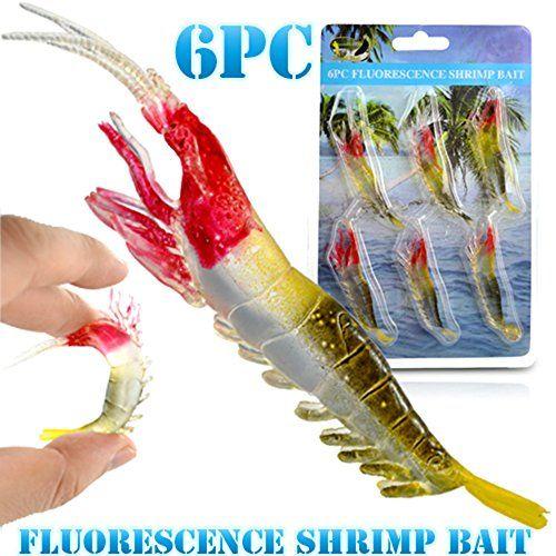 Shrimp Fishing Lures Soft Bait Luminous Shrimp Fishing Lure Artificial Baits 6pc
