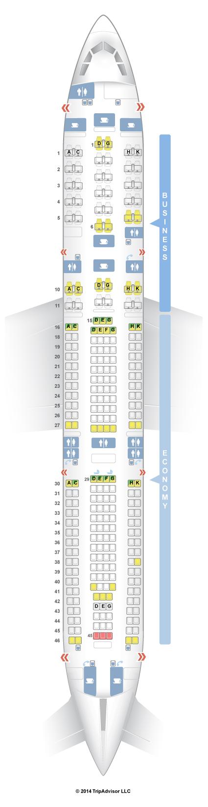 Seatguru Seat Map Lufthansa Airbus A340 300 343 V3 Plane Used For