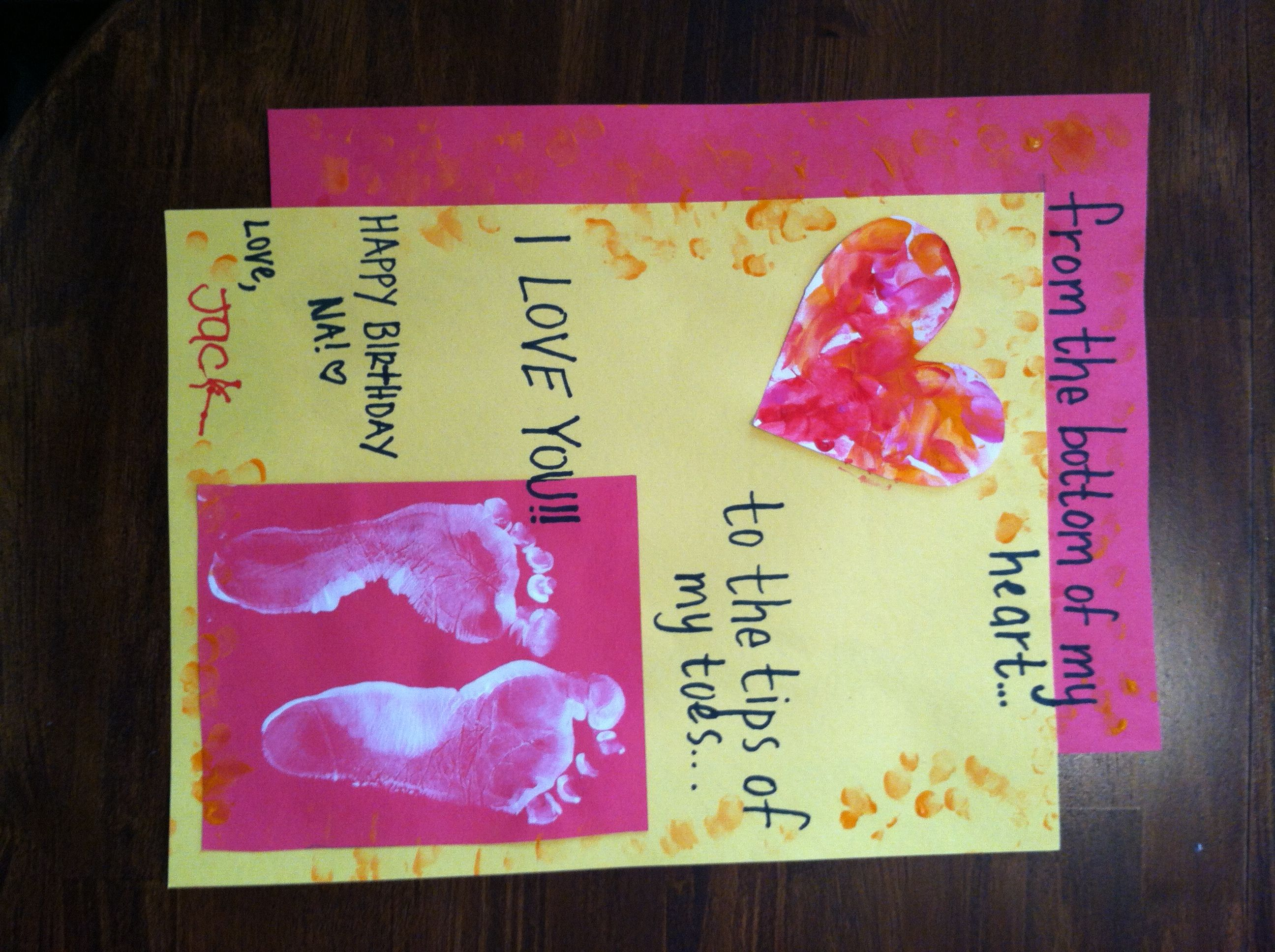 Birthday card for Grandma Jack and Lauren Art