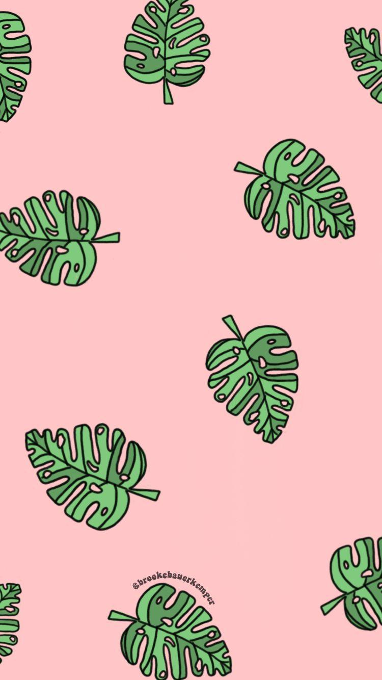 Pinterest Bnb620 Ig Brookebauerkemper Iphone Wallpaper Tropical Leaves Wallpaper Iphone Wallpaper Iphone Cute