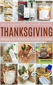 Thanksgiving Gift Ideas for Teachers with Printables,  #Gift #ideas #Printables #Teachers #Th... #thanksgivinggiftsforteachers