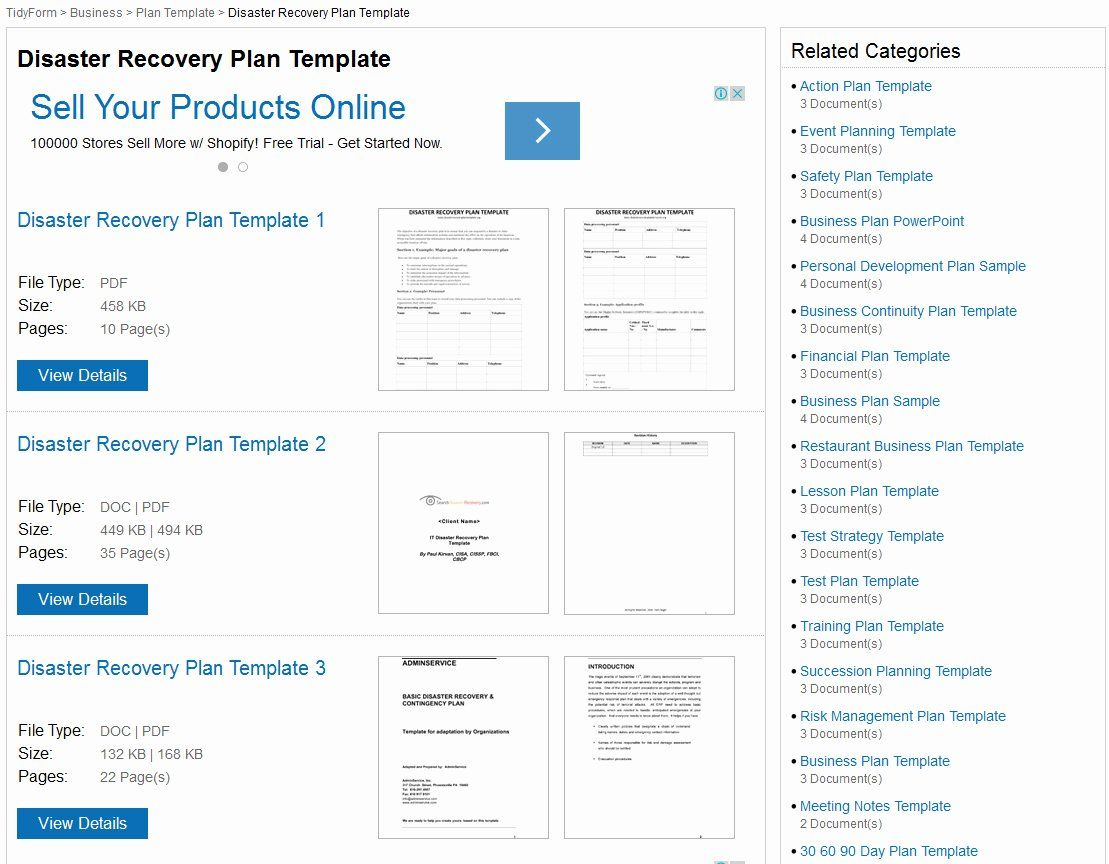 Disaster Recovery Plan Template Nist Unique Itil Disaster