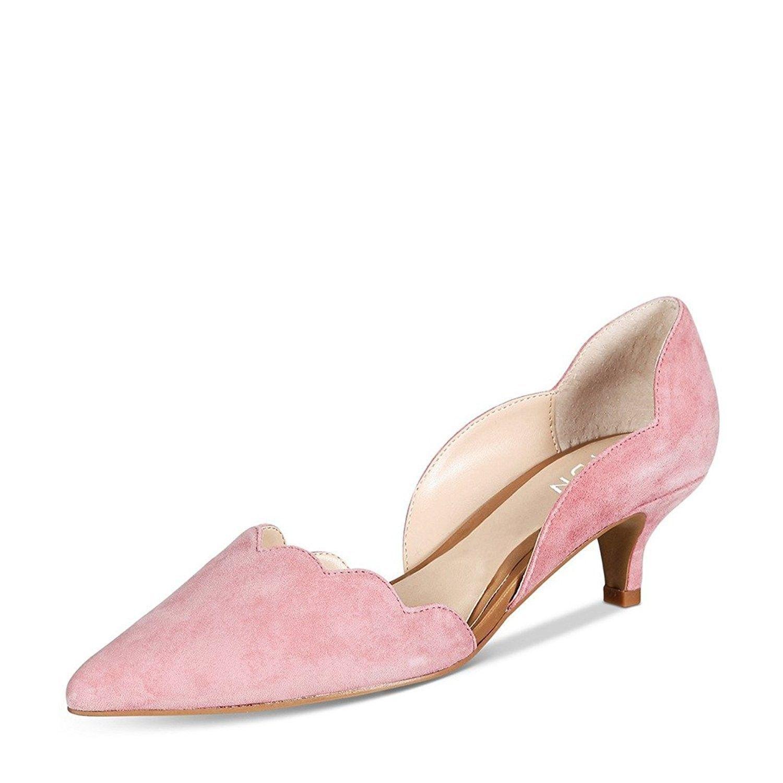 Women Classic Pointy Toe Kitten Pumps Slip On Suede Low Heel D Orsay Shoes Formal Light Pink Cx182xl82qs Pink Kitten Heels Women Shoes Footwear Design Women
