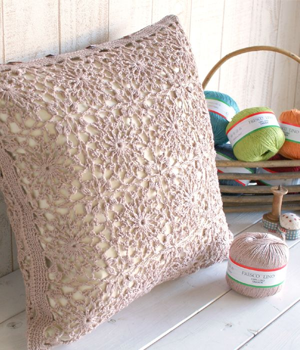 Lace Pillow Free Pattern In Japanese Knit Me Pretty Pinterest