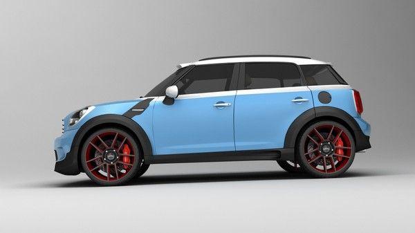 3d materials car - Mini Cooper Countryman custom concept... by VisuArt3D