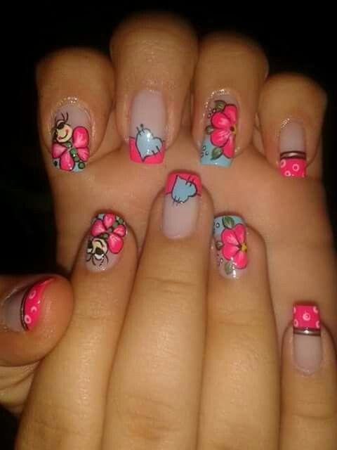 Rosa Chic Diseños De Uñas Uñas Y Uñas Pintadas