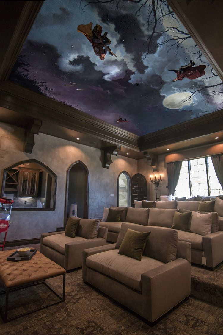 Home Theater Harry Potter Ceiling Harry Potter Room Decor At Home Movie Theater Harry Potter Room