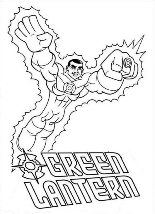 DC Comics Superhero Green Lantern Coloring Page