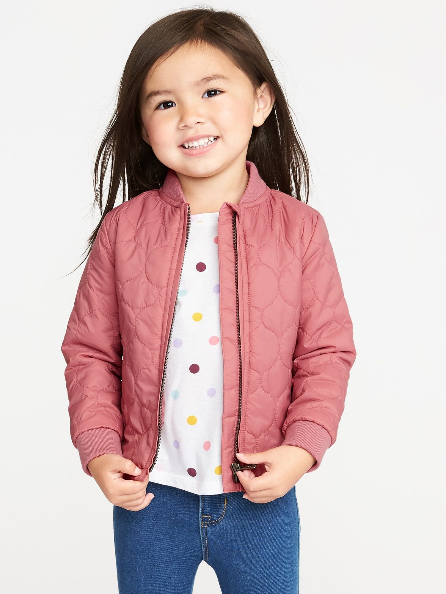 Lightweight Quilted Bomber Jacket For Toddler Girls Romantic Rose Old Navy Toddler Designer Clothes Toddler Fashion Kids Bomber Jacket
