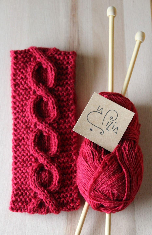 super popolare 0d23c 2bce0 Fascia per capelli in lana realizzata a maglia : Accessori ...
