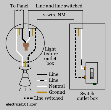 conventional light switch wiring diagram alternate